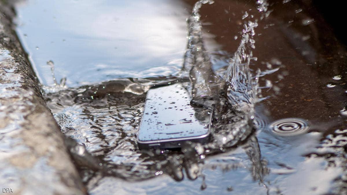 تليفون غارق بالماء