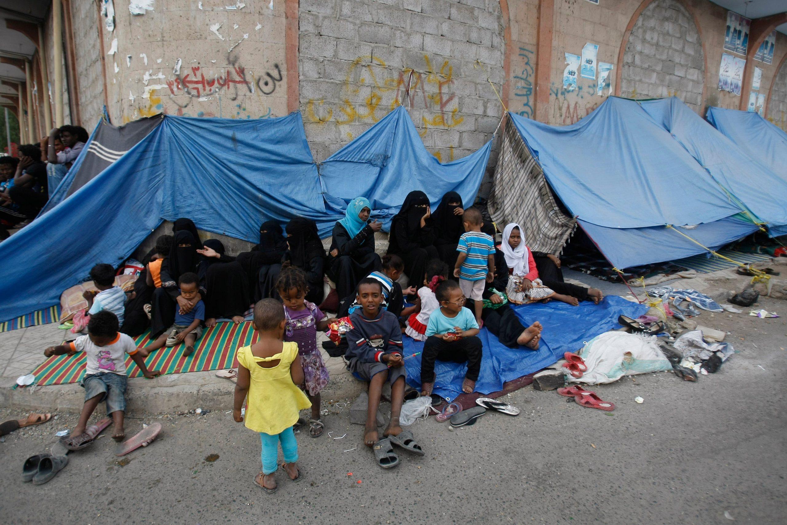 نازحون في اليمن