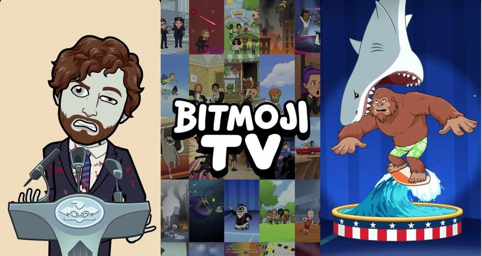 سناب شات تطلق Bitmoji TV