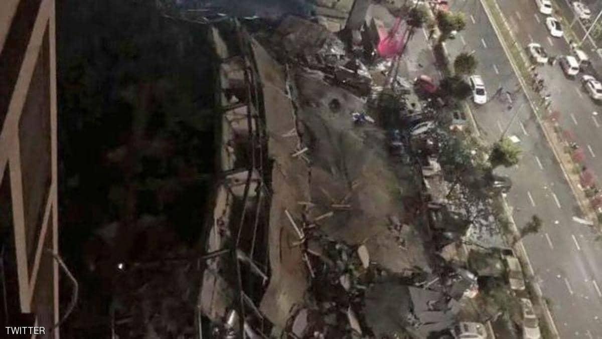 انهيار مستشفى حجر صحي في الصين