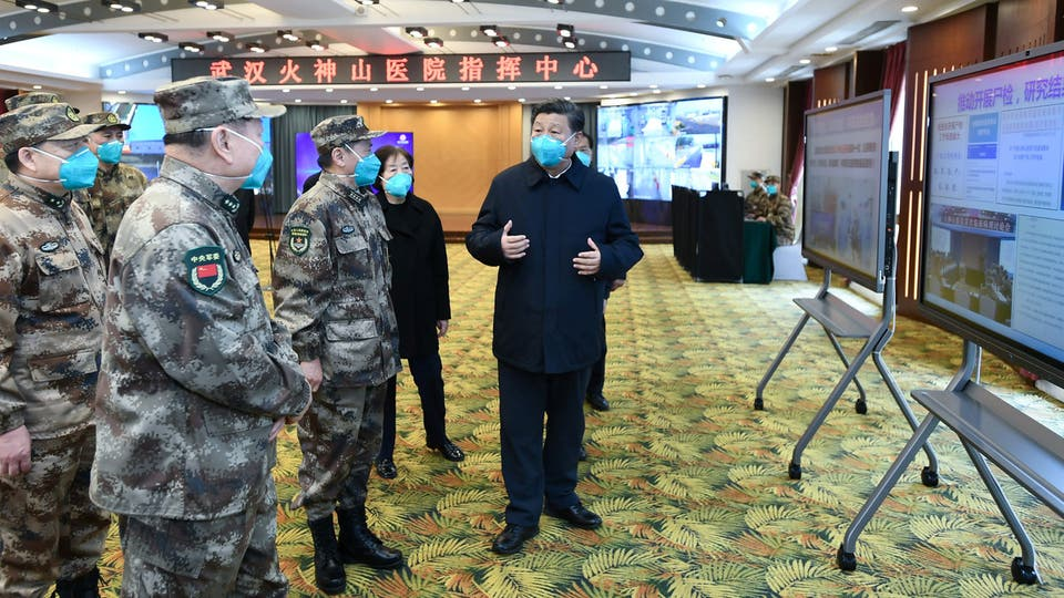 الرئيس الصيني في مدينة وهان