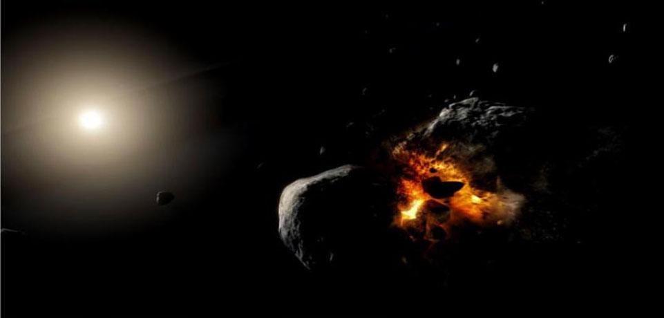 تصادم كوكبين يدوران حول نجم فم الحوت - الكواكب