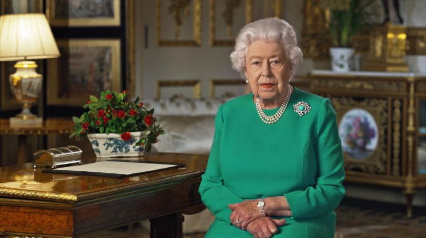 الملكة إليزابيث الثانية خلال الخطاب المتلفز