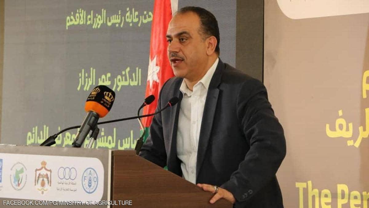 وزير الزراعة الأردني المستقيل إبراهيم الشحاحدة