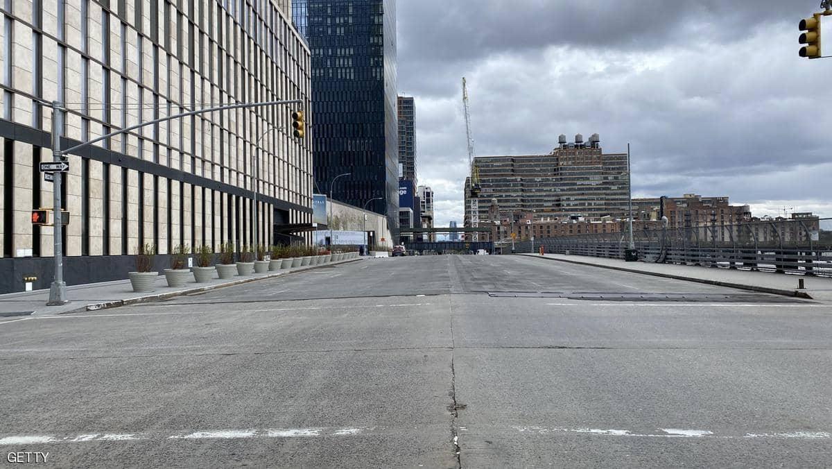 شوارع نيويورك خالية تماما من المارة - كورونا
