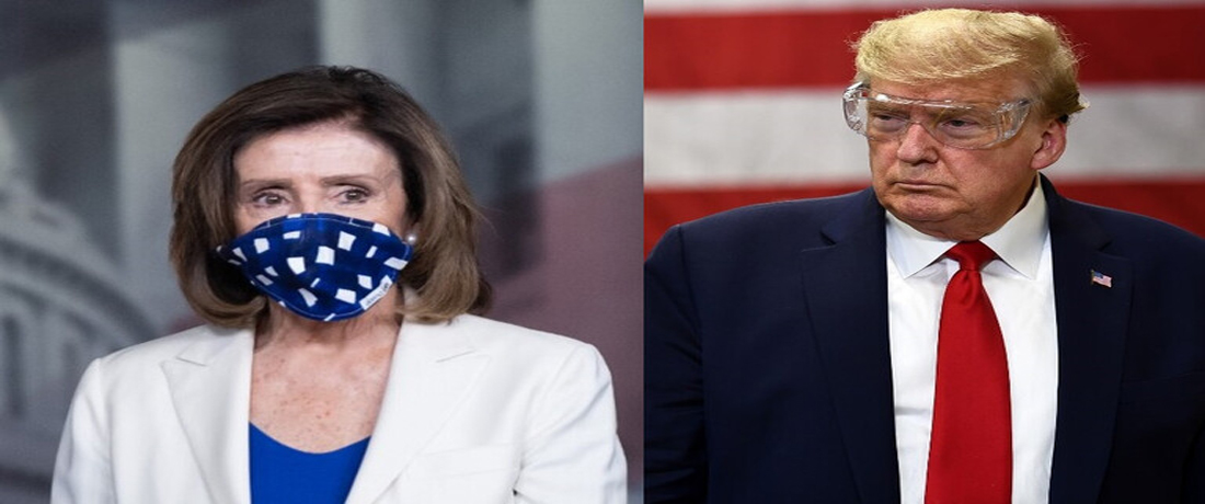 رئيسة مجلس النواب الأمريكي نانسي بيلوسي ودونالد ترامب