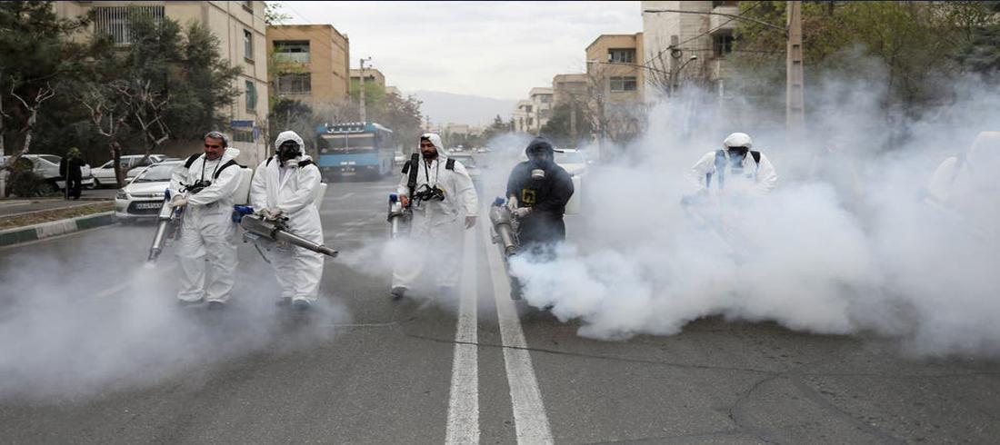 رش الشوارع بالمطهرات- كورونا