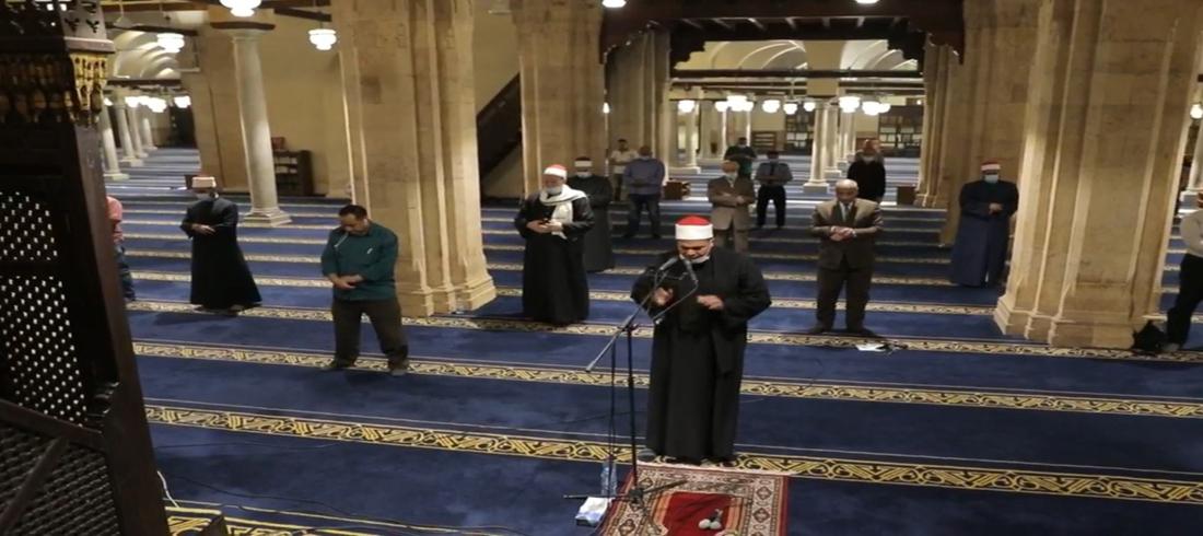 صلاة التراويح في مصر - الازهر