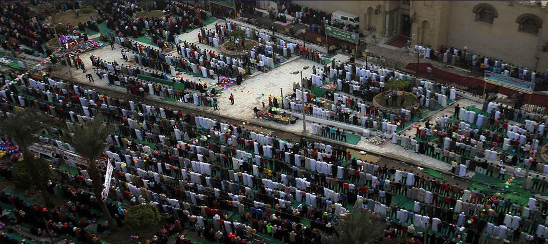 صلاة العيد في مسجد عمرو بن العاص في مصر