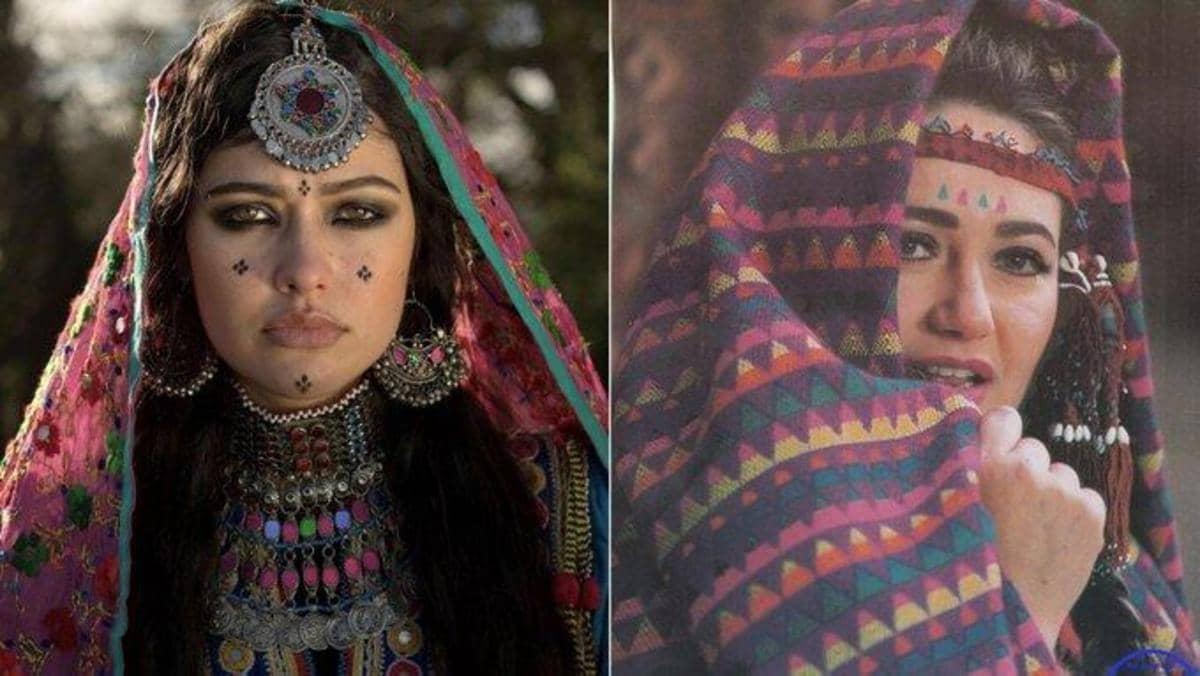 ليلى علوي وشبيهتها الأفغانية