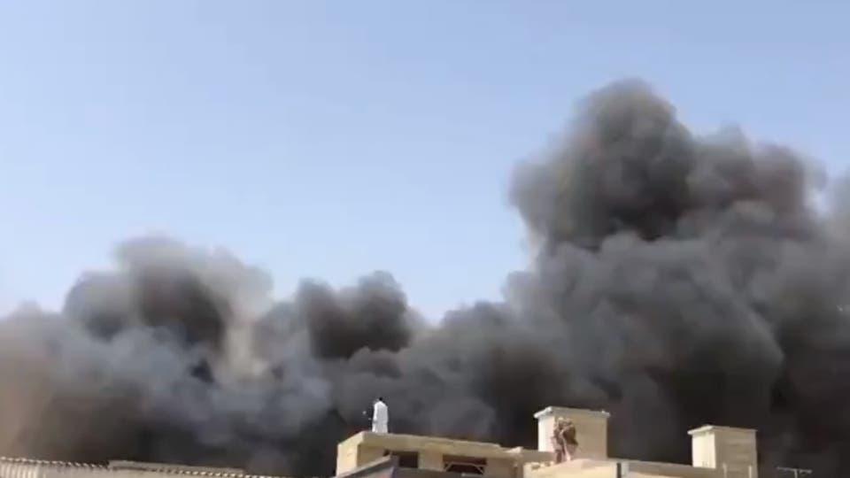 انفجار طائرة في باكستان